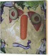 Salad Man Is Confused Wood Print
