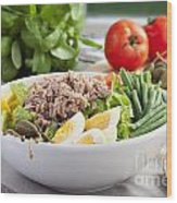 Salad Nicoise Wood Print
