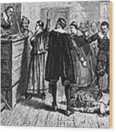 Salem Witch Trials, 1692-93 Wood Print by Photo Researchers