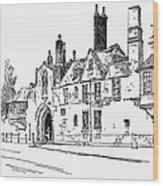 Salisbury Cathedral: Close Wood Print
