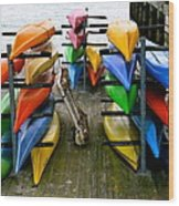 Salma Kayaks Wood Print