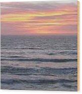 Salmon Creek Beach Wood Print