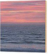 Salmon Creek Sunset Wood Print