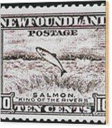 Salmon King Of The Rivers Wood Print