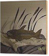 Salmon On Driftwood Wood Print