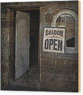 Saloon Open Wood Print