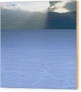 Salt Flat, Death Valley Wood Print