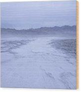 Salt Flats Appear Blue When Shot Wood Print
