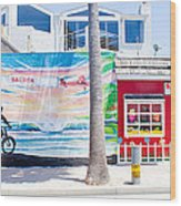 Salt Water Taffy Panorama Balboa California Wood Print