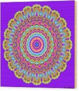 Saltwater Taffy Mandala Wood Print