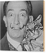 Salvadore Dali 1904-1989, Eccentric Wood Print by Everett