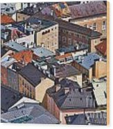 Salzburg's Roofs Austria Europe Wood Print