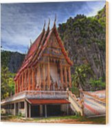 Sam Roi Yot Temple Wood Print