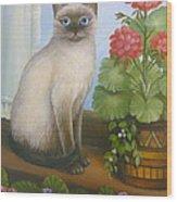 Samantha The Siamese Cat Wood Print