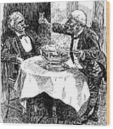 Samuel Clemens Cartoon Wood Print
