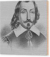 Samuel De Champlain Wood Print by Photo Researchers