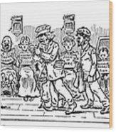 Samuel L. Clemens Cartoon Wood Print
