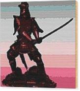 Samurai Sunrise Wood Print
