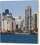San Diego Buildings Photo Wood Print by Paul Velgos