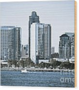 San Diego Downtown Waterfront Buildings Wood Print