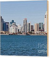 San Diego Skyline Buildings Wood Print