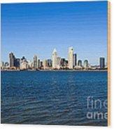 San Diego Skyline Wood Print