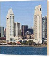 San Diego Skyscrapers Wood Print