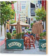 San Francisco - Maiden Lane - Outdoor Lunch At Mocca Cafe - 5d17932 - Painterly Wood Print