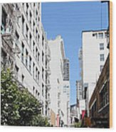 San Francisco - Maiden Lane - Outdoor Lunch At Mocca Cafe - 5d18011 Wood Print