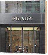 San Francisco - Maiden Lane - Prada Fashion Store - 5d17798 Wood Print by Wingsdomain Art and Photography