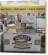 San Francisco - Stanley's Steamers Hot Dog Stand - 5d17929 Wood Print by Wingsdomain Art and Photography