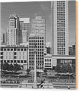 San Francisco - Union Square - 5d17941 - Black And White Wood Print