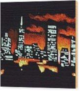San Francisco Black Light Wood Print