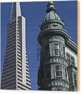 San Francisco Buildings Wood Print
