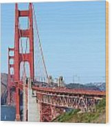 San Francisco Golden Gate Bridge . 7d8157 Wood Print by Wingsdomain Art and Photography