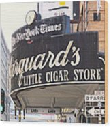 San Francisco Marquard's Little Cigar Store On Powell And O'farrell Streets - 5d17954 - Painterly Wood Print