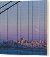San Francisco Moon Wood Print