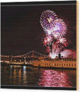 San Francisco New Years Eve Wood Print