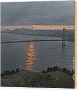 San Francisco On Cloudy Sunrise Wood Print by Matt Tilghman