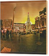 San Francisco Union Square Xmas Wood Print