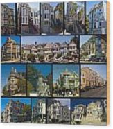 San Francisco Victorians 2 Wood Print