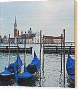 San Giorgio Maggiore And Gondolas Wood Print