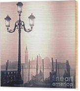 San Giorgio Maggiore Seen From Venice  Wood Print