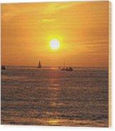 San Juan Capistrano Beach Sunset Wood Print