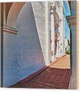 San Luis Rey Courtyard Wood Print