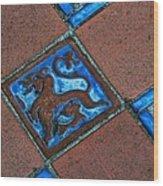 San Simeon Patio Tile Wood Print
