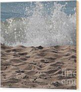 Sand And Surf Wood Print