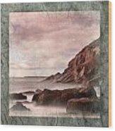 Sand Beach In Texture Wood Print