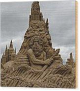 Sand Castles Wood Print