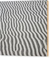 Sand Dune Pattern Wood Print